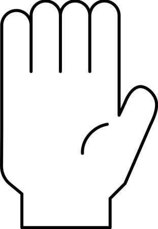 This is a illustration of a hand sign Illusztráció