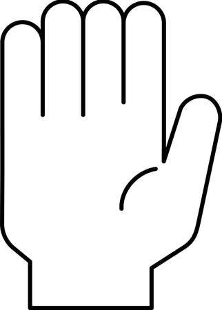 This is a illustration of a hand sign Stock fotó - 129555312