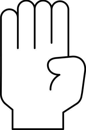 This is a illustration of a hand sign Stock fotó - 129555326