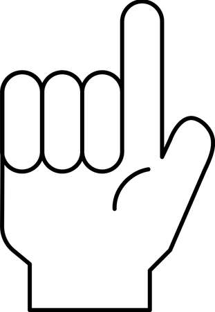 This is a illustration of a hand sign Stock fotó - 129555315