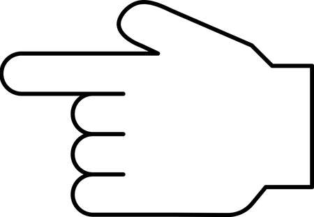 This is a illustration of a hand sign Stock fotó - 129555320