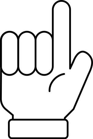 This is a illustration of a hand sign Stock fotó - 129555331