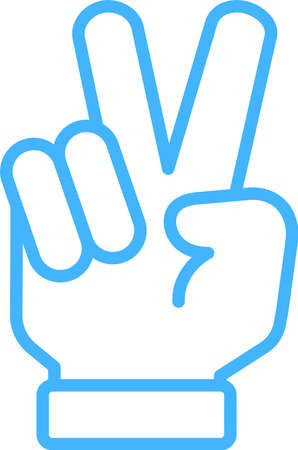 This is a illustration of a hand sign Stock fotó - 129555427