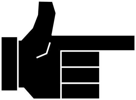 This is a illustration of a cute Squared hand sign Stock fotó - 129555442