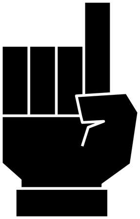 This is a illustration of a cute Squared hand sign