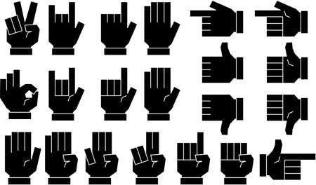 This is a illustration of a cute Squared hand sign Stock fotó - 129555459