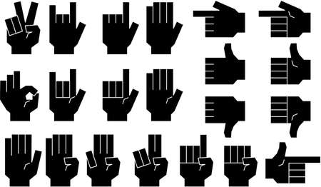 This is a illustration of a hand sign Stock fotó - 129555489