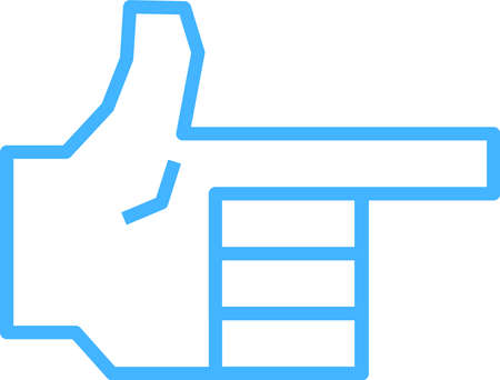 This is a illustration of a hand sign Stock fotó - 129555494