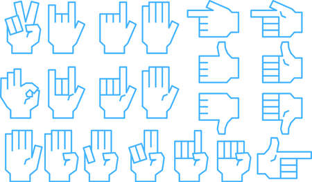 This is a illustration of a hand sign Çizim