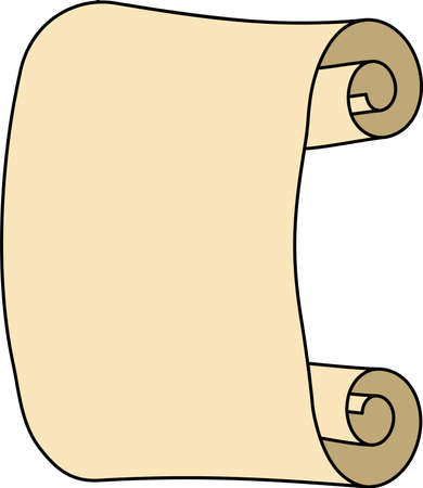 This is a illustration of Paper scroll