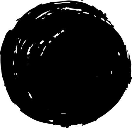 This is a illustration of Circle painted with a Japanese brush