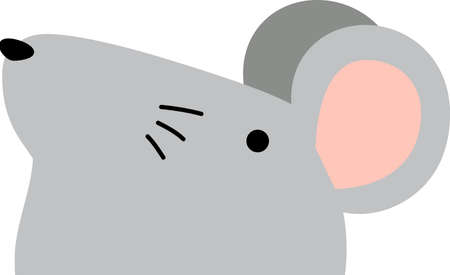 This is a illustration of Cute mouse face Ilustrace