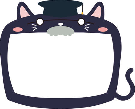 This is a illustration of Cute Cat whiteboard