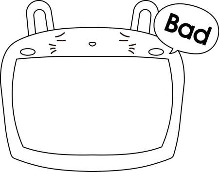 This is a illustration of Cute Rabbit whiteboard 일러스트