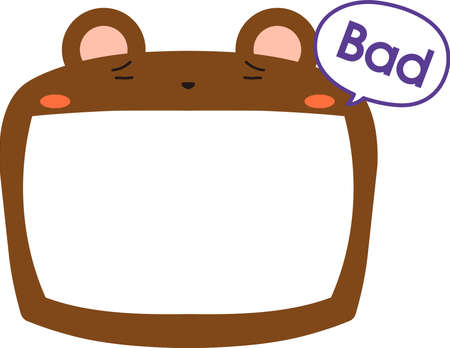 This is a illustration of Cute Bear whiteboard 일러스트