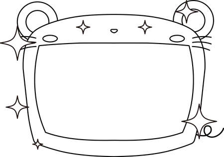This is a illustration of Cute mouse whiteboard 矢量图像