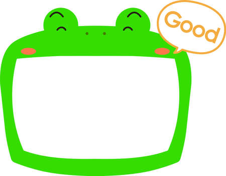 This is a illustration of Cute frog whiteboard Imagens - 131520992