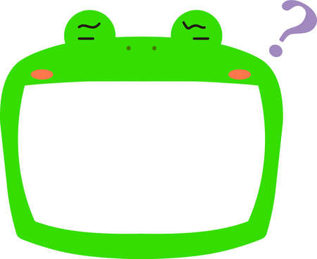 This is a illustration of Cute frog whiteboard  Illustration