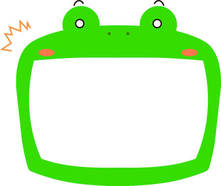 This is a illustration of Cute frog whiteboard Imagens - 131520991
