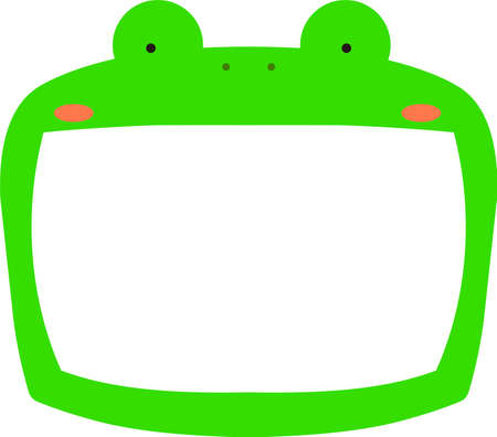 This is a illustration of Cute frog whiteboard  Ilustração