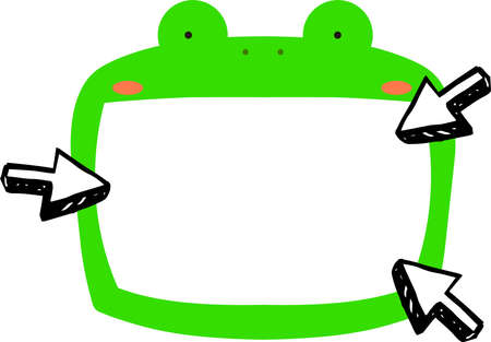 This is a illustration of Cute frog whiteboard Imagens - 131520993