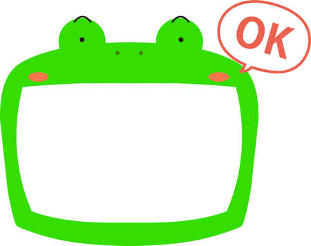 This is a illustration of Cute frog whiteboard Imagens - 131520999