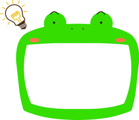 This is a illustration of Cute frog whiteboard Imagens - 131520996