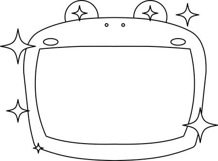 This is a illustration of Cute frog whiteboard Imagens - 131520997