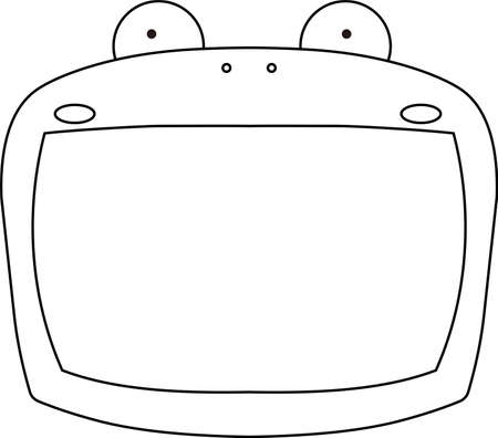 This is a illustration of Cute frog whiteboard Imagens - 131521000