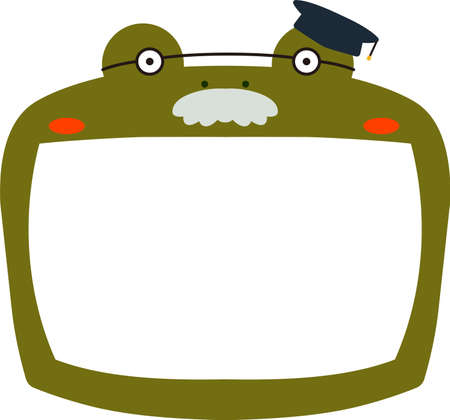 This is a illustration of Cute frog whiteboard Imagens - 131521040