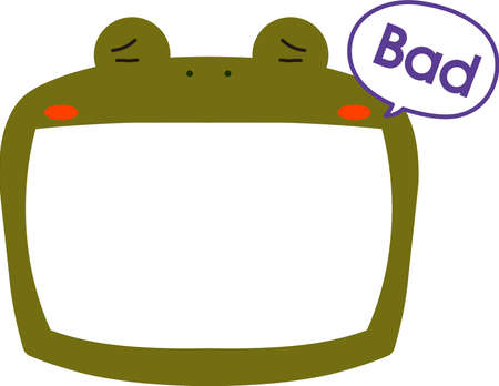 This is a illustration of Cute frog whiteboard Imagens - 131521036