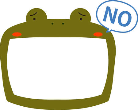 This is a illustration of Cute frog whiteboard