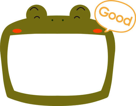 This is a illustration of Cute frog whiteboard Imagens - 131521033