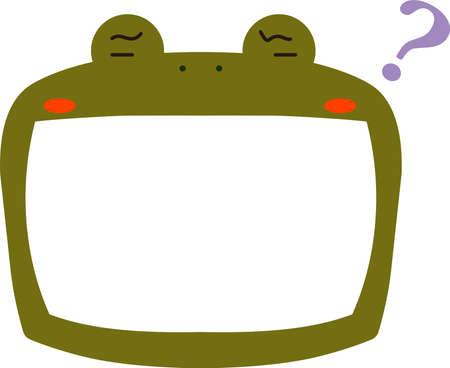 This is a illustration of Cute frog whiteboard Imagens - 131521039
