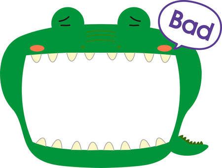 This is a illustration of Cute caiman whiteboard