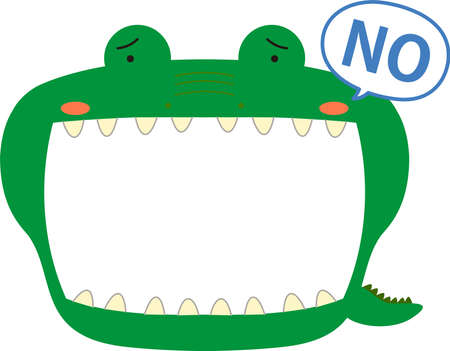 This is a illustration of Cute caiman whiteboard Imagens - 131521045