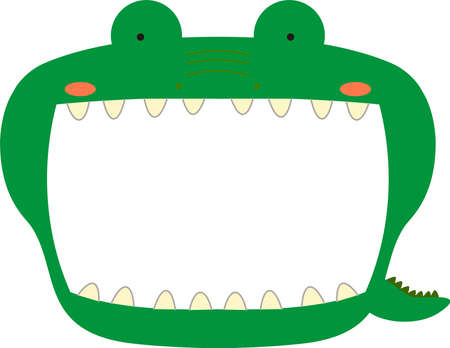 This is a illustration of Cute caiman whiteboard Imagens - 131521052