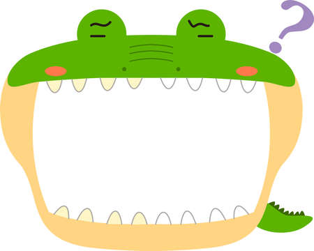 This is a illustration of Cute caiman whiteboard Imagens - 131521102