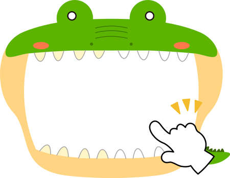 This is a illustration of Cute caiman whiteboard Imagens - 131521101