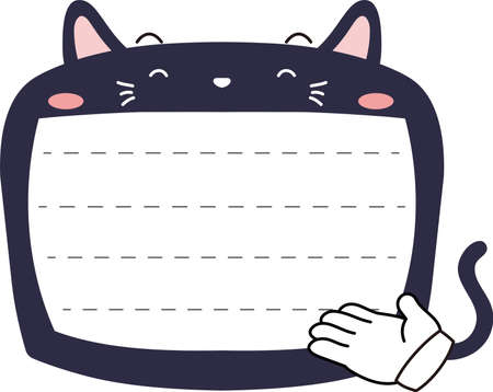 This is a illustration of Cute Cat noteboard Imagens - 131541302