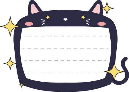 This is a illustration of Cute Cat noteboard Imagens - 131540130