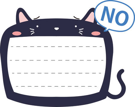 This is a illustration of Cute Cat noteboard Imagens - 131540411