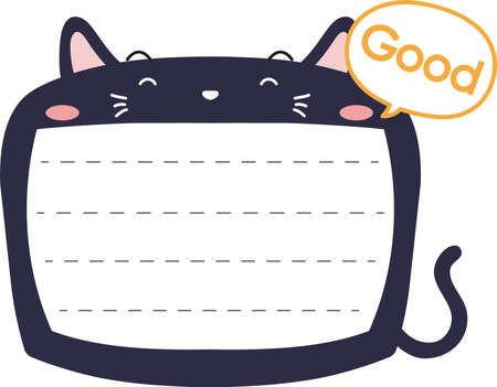 This is a illustration of Cute Cat noteboard Imagens - 131541304