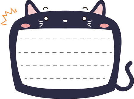 This is a illustration of Cute Cat noteboard Imagens - 131540150
