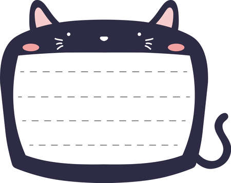 This is a illustration of Cute Cat noteboard Imagens - 131537397