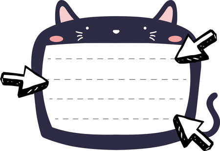 This is a illustration of Cute Cat noteboard Imagens - 131540696