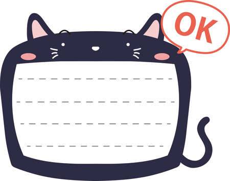This is a illustration of Cute Cat noteboard Imagens - 131540361