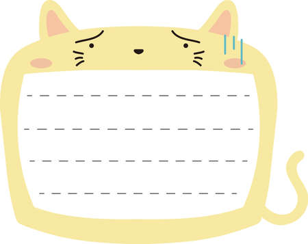 This is a illustration of Cute Cat noteboard Imagens - 131540882