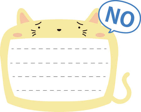 This is a illustration of Cute Cat noteboard