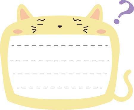 This is a illustration of Cute Cat noteboard Imagens - 131539937